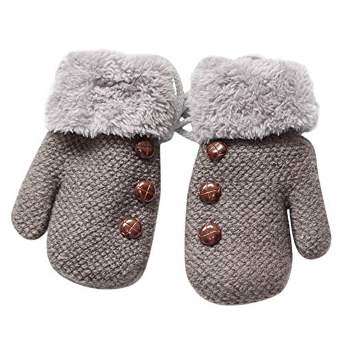 SMALLE ◕‿◕ Clearance,Toddler Baby Thicken Girls Boys Rope Full Finger Warm Knitted Mittens Gloves
