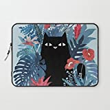 T18ager Laptop sleeve 17 inch,Popoki in Blue Water-resistant Neoprene 17-17.3 Inch laptop Sleeve Case Bag Cover for Notebook Computer / Apple MacBook / MacBook Pro (17 inch)