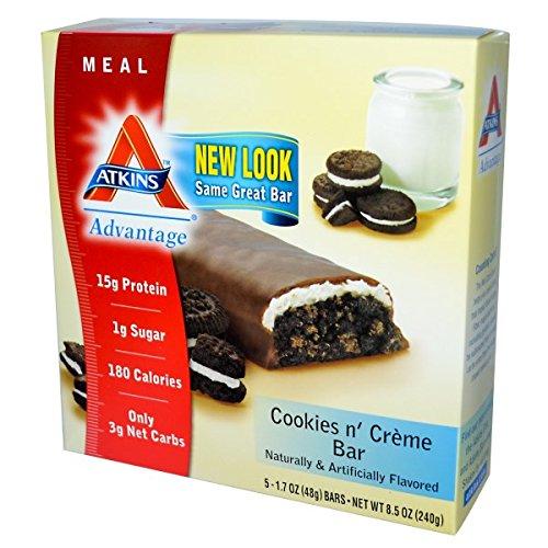 Atkins Advantage 5pk Cookies & Cream (Atkins Low Carb Cookies)