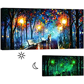 glow in the dark paint for wallsAmazoncom Wall Paintings for Living Room  Tree Painting Glow in