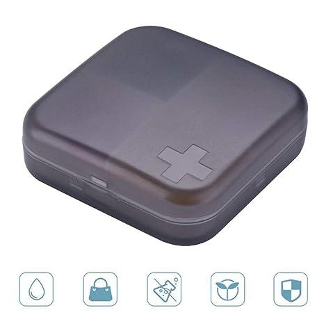 FOONEE - Pastillero Organizador de Viaje con 4 Compartimentos, dispensador de Pastillas, Almacenamiento de