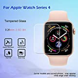 EDTO HD Tempered Glass LCD Film Transparent Screen Protector Film for Apple Watch Series 4 40mm/44mm (40mm-1pcs)