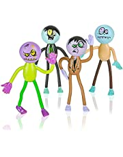 ArtCreativity Assorted Bendable Zombies for Kids - Pack of 12-3.75 Inch Halloween Figurines with Bendable Limbs - Halloween Party Favors, Treats, Décor, Goodie Bag Fillers, Trick or Treat Supplies