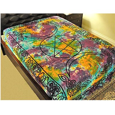 BUDDHA Bedspread: Tapestry Throw 72 x 108 Altar Cloth Wall Hanging