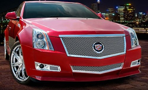 Chrome Grille Heavy Mesh (E&G Classics® Cadillac CTS  2 Pc Classic Heavy Metal Mesh Grille (Main & Bumper Grille) 2008-2013)