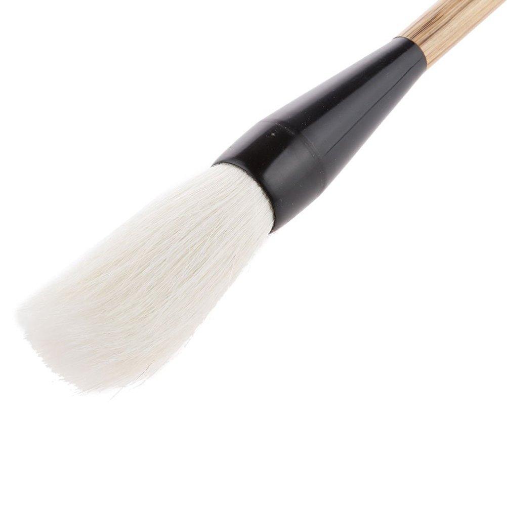 Pixnor Large Calligraphy Brush Goat Hair Writing Brush Sumi Drawing Brush for Larger Regular Script of Calligraphy Brown