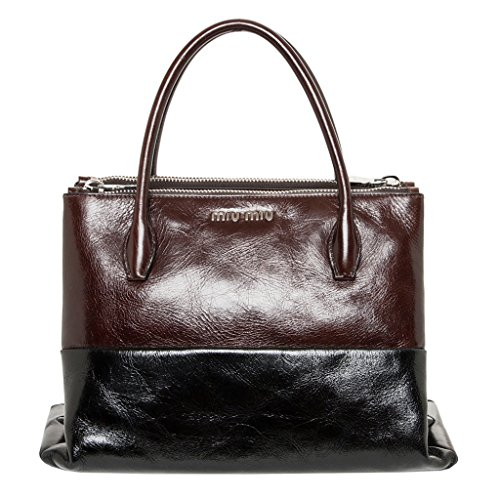 Miu-Miu-Womens-Two-Tone-Glossed-Tote-Black