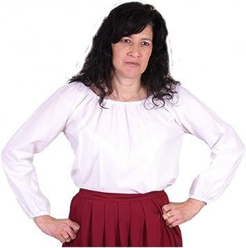 Blusa medieval manga larga mujer: Amazon.es: Juguetes y juegos