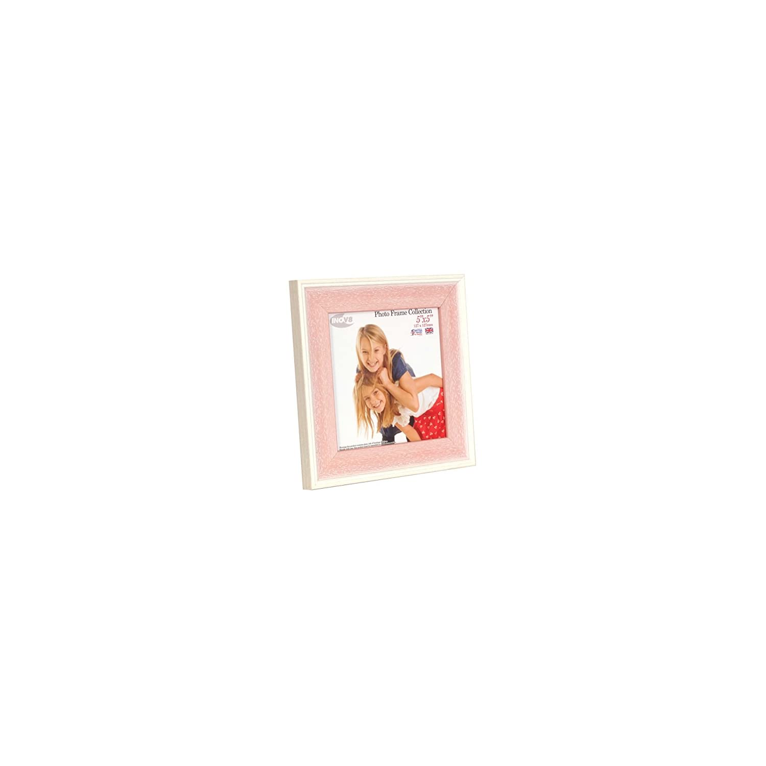 Inov8 British Made Picture/Photo Frame, 5X5 inch, Austen Pink Wash, Pack of 4