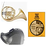Band Directors Choice Single French Horn in F - Solos for the Horn Player Pack; Includes Student French Horn, Case, Accessories & Solos for the Horn Player Book