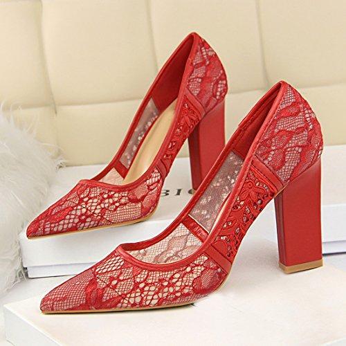 MiyooparkUK EU pour Escarpins Femme 36 5 Rouge DS5239 Miyoopark Red 12 RqwvHRx