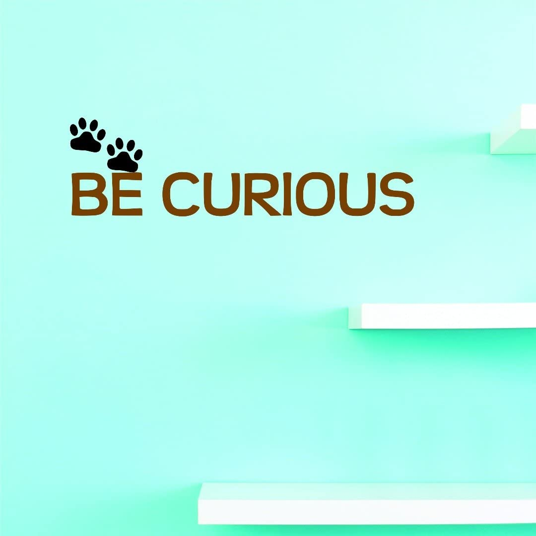 Discounted Vinyl Wall Decal : Be Curious Home Decor Picture Art 12 Inches X 30 Inches