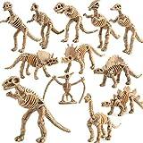 Fantarea Dinosaur Skeleton Fossils Assorted Bones 12 PCS Figures Toys for Kid