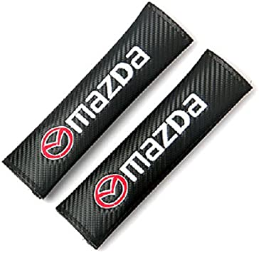 Car Seat Safety Belt Pad Cover Shoulder Strap Cushion MazaSpeed Logo For MAZDA