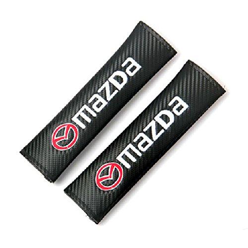 2pcs MAZDA Carbon Fiber Car Styling Accessories Seat Belt Shoulders Pad Truck Cover ATENZA AXELA CX-5 CX-7 CX-8