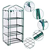Giantex Portable Mini Walk In Outdoor 4 Shelves Greenhouse