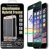 iPhone6/6S Plus 3Dアルミフレームハイブリッド 強化ガラス 「Smooth Protect」0.26mm / 硬度9H 液晶保護強化ガラスフィルム (iPhone6/6S 5.5インチ / ブラック/ブルーライトカット)