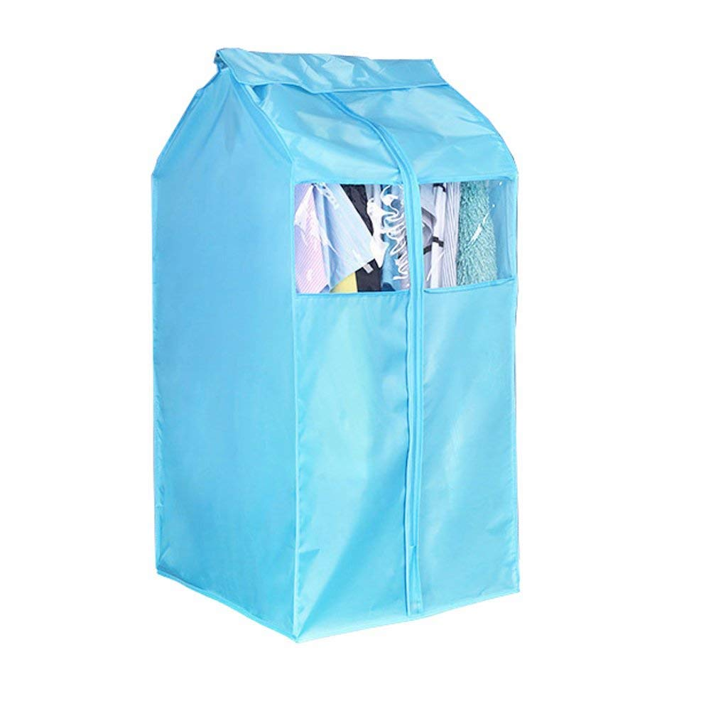 Large Blue Oxford Wardrobe, Clothing Garment Hanging Closet Cover, Dustproof & Mothproof Hanging Storage Protector, Cover Bag Storage Bag with Magic Tape and Full Zipper Hersent