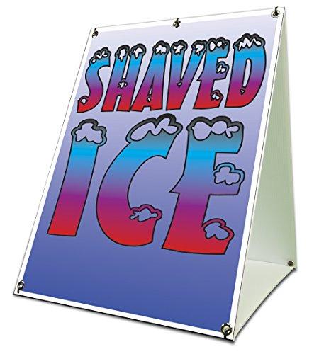Shaved Ice Sidewalk Sign Retail A Frame 18