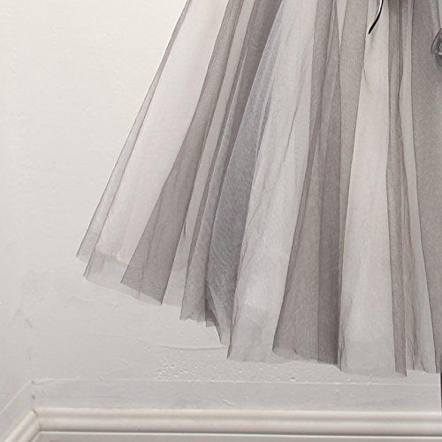 Vestidos Novia Goddess Vestido Cordón Sleeveless Strapless Parte Gris Con Banquetes Mini Túnica Los Sun 8 De EnAqqC