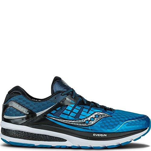 Saucony Men's Triumph ISO 2 Running Shoe, Blue/Black/Silver, 11.5 M US
