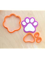 Dog Paw Fondant Cutter Set (2.0 x 1.9 inches)