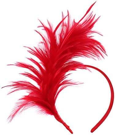 Felizhouse Fascinator Feathers Headband Headpiece