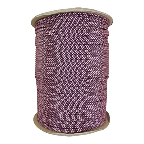 SGT KNOTS Paracord 550 Type III 7 Strand - 100% Nylon Core and Shell 550 lb Tensile Strength Utility Parachute Cord for Crafting, Tie-Downs, Camping, Handle Wraps (Rose Pink Diamonds - 10 ft)