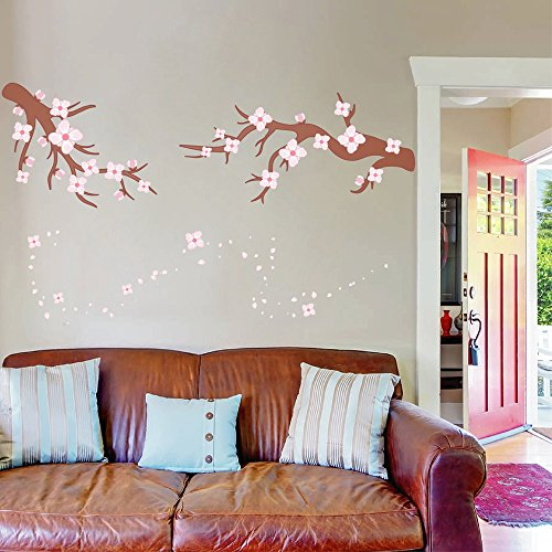 cik103 Full Color Wall decal tree branch cherry