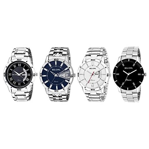 Bigowl Combo Of 4 Analogue Multicolor Dial Mens Watches