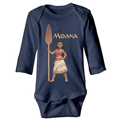 DELPT Moana Action Figure Fashion Infant Baby's Romper Climb Clothes 12 Months Navy