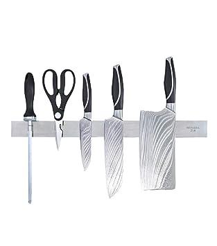 Porta Cuchillos Magnético, Acero Inoxidable Colgante ...
