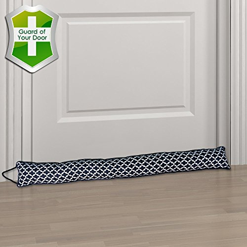 Door Draft Guard (Gravan Under Door Draft Stopper Door Sealing Blocker, Heavy Duty Soundproof, Energy Saving & Weather Stripping, Window Draft Guard Protector (Black))