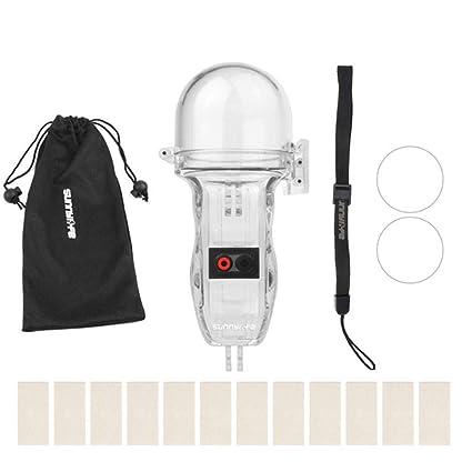 Sunflowerany Funda Protectora Impermeable para cámara Deportiva, Carcasa de Buceo para cámara, Accesorios para cámara, Compatible con dji OSMO Pocket