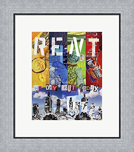 Rent by Artpoptart Framed Art Print Wall Picture, Flat Silver Frame, 18 x 20 ()