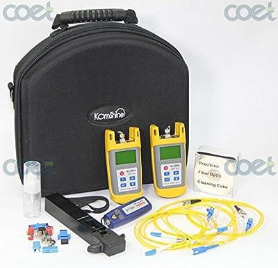 Fiber Optic Toolkit KomShine KLT-25M-F + Optic Power Meter OPM KPM-25M/ OLS / Fiber Fault Locator / Optical Fiber Identifier KFI-35
