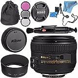 Nikon AF-S NIKKOR 50mm f/1.4G Lens 2180 + 58mm 3pc Filter Kit + Lens Pen Cleaner + Fibercloth + Lens Capkeeper + Lens Cleaning Kit Bundle