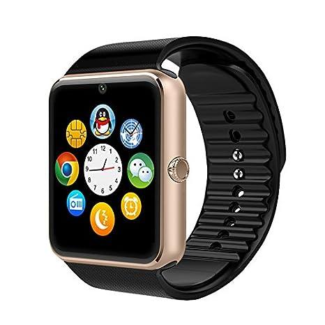 Yamay Reloj de pulsera inteligente, con ranura para tarjeta SIM, Bluetooth, NFC, función de podómetro, ...