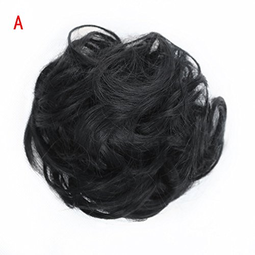 Junshion Women's Curly Messy Bun Hair Twirl Piece Scrunchie Wigs Extensions by Junshion (Image #1)