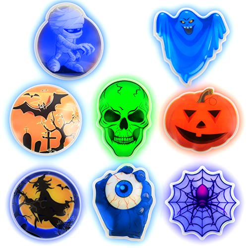PartySticks Glow Stick Stickers - Glow in The Dark Stickers for Kids, Birthday Party Favors, Party Supplies, Classroom Game Prizes or Treats (8pk) -