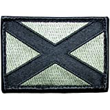 "[Single Count] Custom, Cool & Awesome {3"" by 2"" Inches} Rectangle Alabama State Flag USA Army Badge (Tactical Type) Velcro Patch ""Green & Black"""