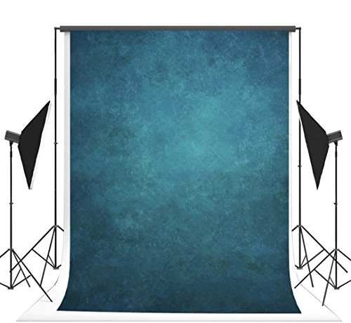 - 5x7 ft Photography Backdrops Blue Solid Portrait Background Muslin Wedding Photo Booth Props Seamless Background