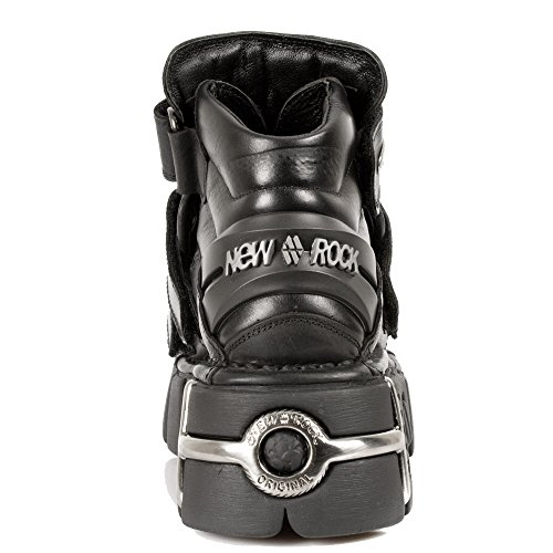M-285-S1-46 Nero Nuove scarpe da roccia con 3 Velcros e Tower-Sole con raccordi in metallo dalla nuova collezione di torri Rock Tower
