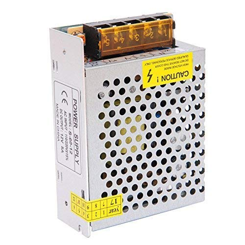 EMSY LED AC 110V-240V to DC 12V Switching Power Supply Regulated Power Transformer Adapter for Industrial Automation, LED Strips,CCTV, Radio, Computer 12V 5A 60W