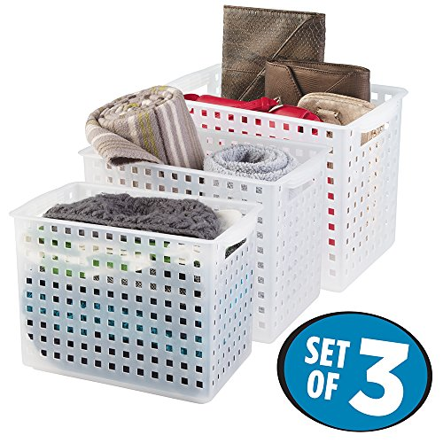 mDesign Storage Organizer Baskets Blankets