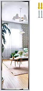 14x48 Inch Full Length Mirror Wall Mounted, Large Body Mirror with Rectangular Framed for Bedroom Bathroom Living Room Decor, White
