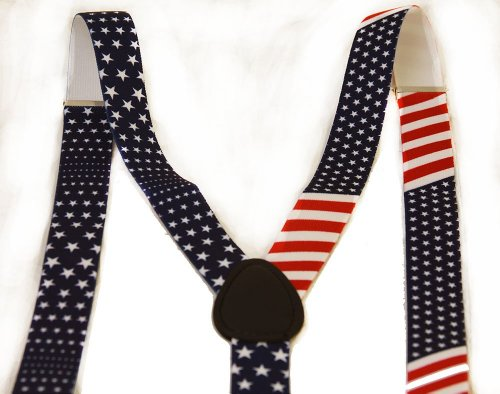 United States of America Flag Red White Blue (Red White And Blue Suspenders)