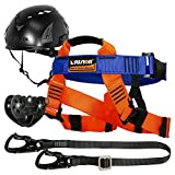 Fusion Climb Tactical Edition Kids Commercial Zip Line Kit Harness/Lanyard/Trolley/Helmet Bundle FTK-K-HLTH-05