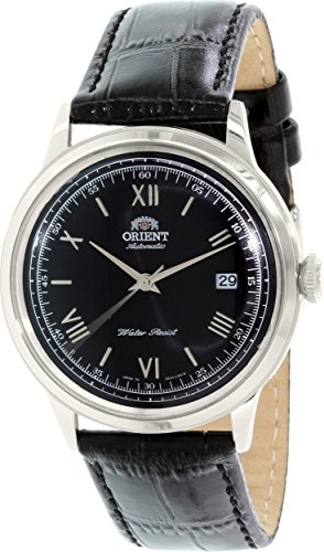 - Orient Bambino Automatic Dress Watch with Black Dial, Roman Numeral Markers ER2400DB
