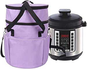 Carrying Case Compatible With 6 Quart Instant Pot, Pressure Cooker Travel Tote Bag Cover, Grab Handles and Detachable Shoulder Strap Design, Multiple Pockets, Durable and Waterproof Fabric